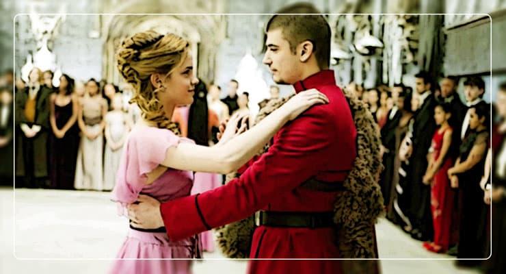Гермиона танцует с Виктором Крамом